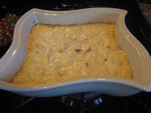 This is a pretty tasty recipe for warm lobster dip.  Again, as in title, you could substitute with crabmeat, sea legs, or tiny baby shrimp if you like.  I happen to mostly use my leftover lobster tail or claw meat when I make this.  I have a great 1 qt. chafing server with a tea light beneath it that I usually prepare this in.  Serve with pita chips, crackers, baguette slices, or vegetables.  You can make this thicker or thinner depending on the amount of half And half and sour cream you use…