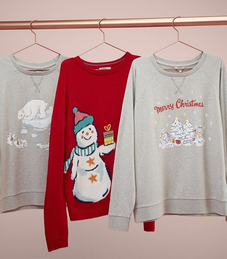 Hello, Christmas jumpers! Take your pick from bright red Snowmen to Polar Bear and 'Merry Christmas' motifs. Grab your festive jumper for 2017 now