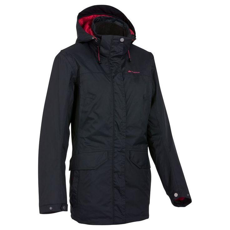 Arpenaz 200 Rain Warm női kabát, fekete