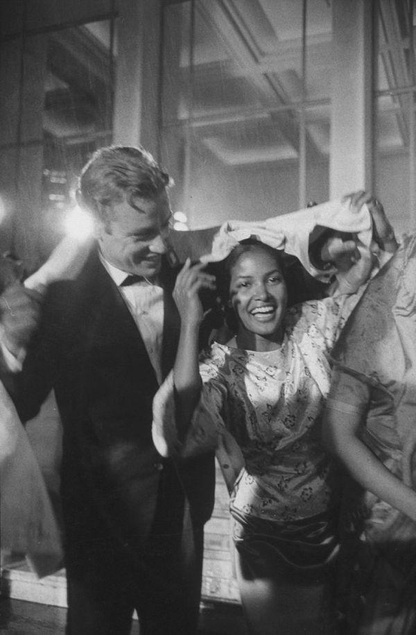 "blackgirlwhiteboylove: "" Actress Marpessa Dawn with her husband Eric Vander, Paris 1960. "" She was so beautiful in the film Black Orpheus (1959)."