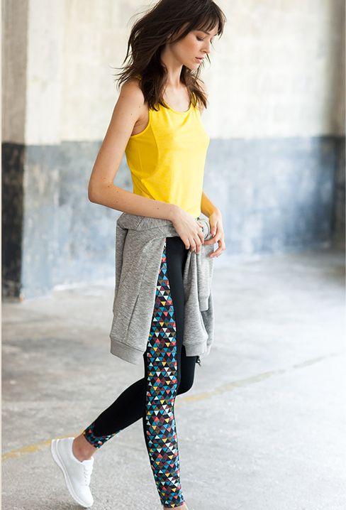 leggings multicolor deportivos R essentiel