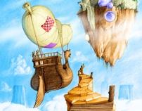 Illustrations for childrens literature - Fairy Tale by Levente Kocsis, via Behance