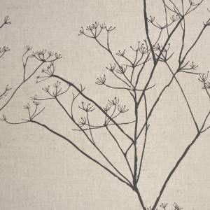 Black botanical print - by Ada & Ina www.linenfabrics.co.uk