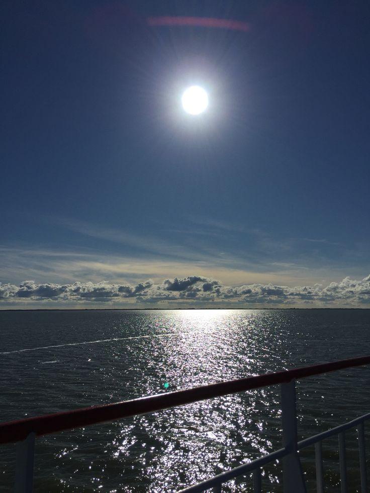 Op de boot van Schiermonnikoog naar Lauwersoog