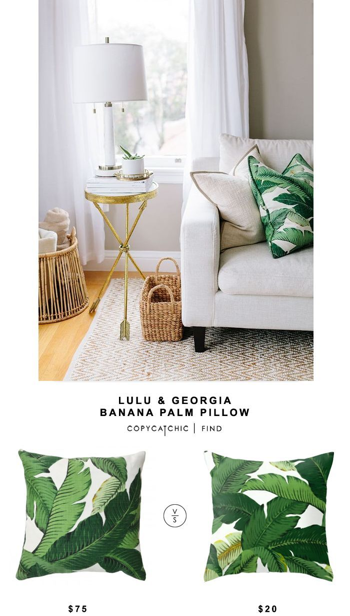 Fresh Lulu and Georgia Banana Palm Pillow