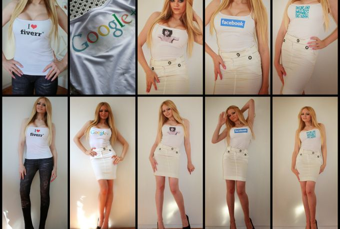 Get a model posing with your logo printed on a shirt for $5 only, exclusively on Fiverr -  http://fiverr.com/mn0309/print-your-logo-picture-or-other-on-a-sexy-real-top-and-will-model-with-it
