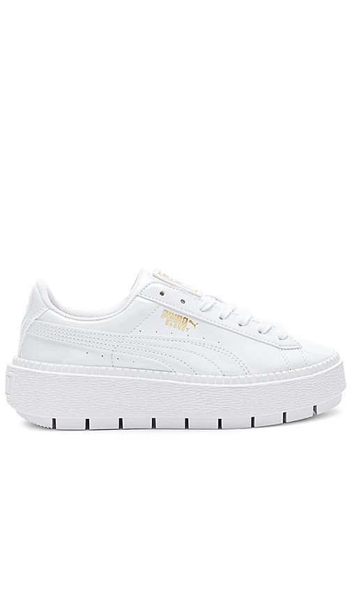 87d5dd24458909 Shop for Puma Basket Platform Trace Sneaker in Puma White at REVOLVE. Free  2-3 day shipping and returns