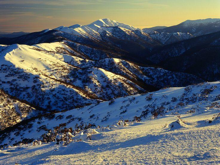 Sunrise on Mount Feathertop Alpine National Park Victoria Australia Fondo escritorio pantalla wallpapers