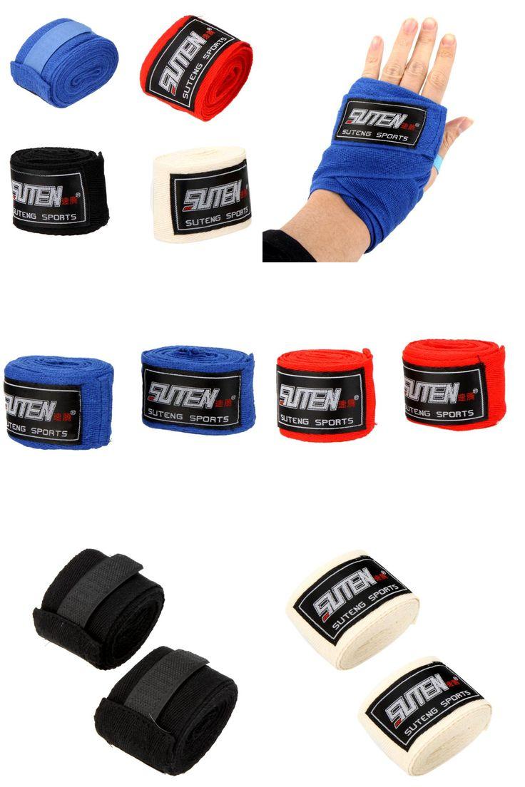 [Visit to Buy] Newest 2pcs 100% Cotton Sports Boxing Gloves Strap Muay Thai Taekwondo Boxing Bandage Hand Gloves #Advertisement