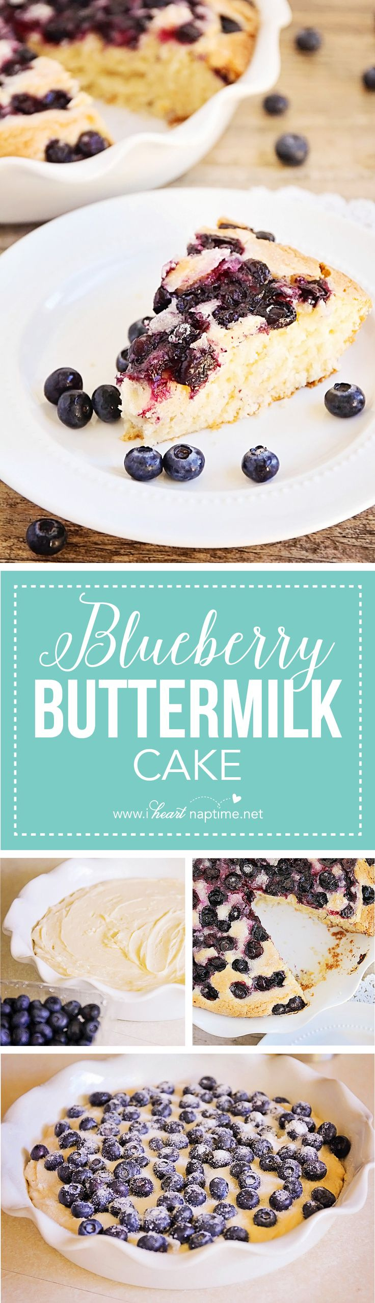 Blueberry Buttermilk Cake... this simple and sweet cake is quick and easy to make, and the perfect way to enjoy those fresh summer berries!
