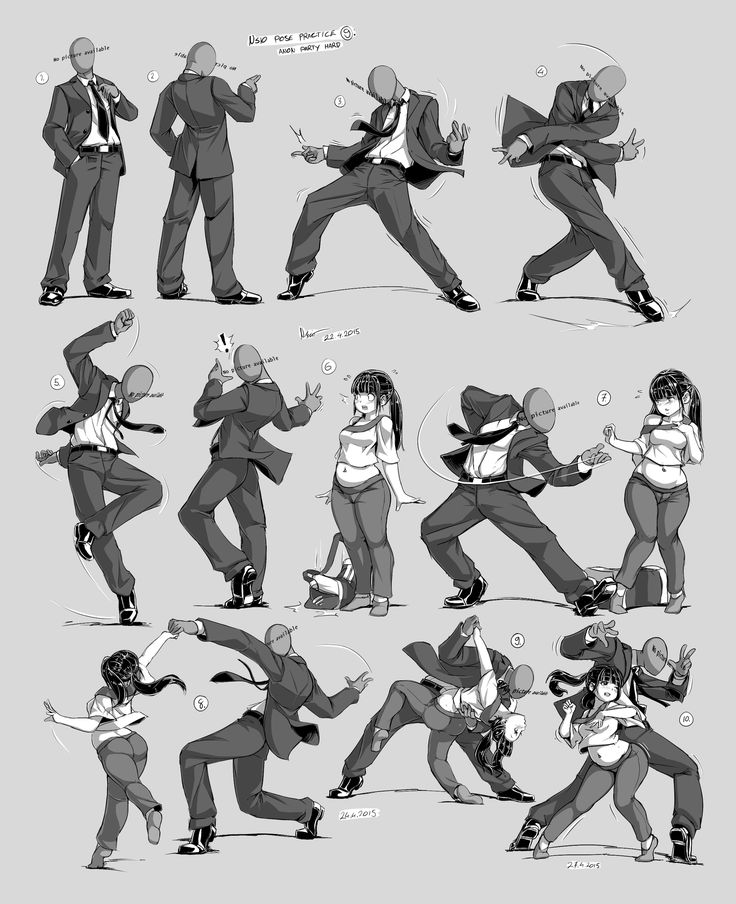 Nsio Pose Practice 9: Anon Party Hard! [Update] by Nsio.deviantart.com on @DeviantArt