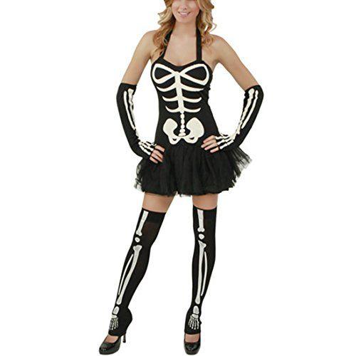 Damen Skeleton Costume Schwarz Skull Halloween Dress Zombie Kostueme Partykleid (38,Schwarz) Fashion Season http://www.amazon.de/dp/B00LVN32LY/ref=cm_sw_r_pi_dp_DKD6tb0K9XVXY