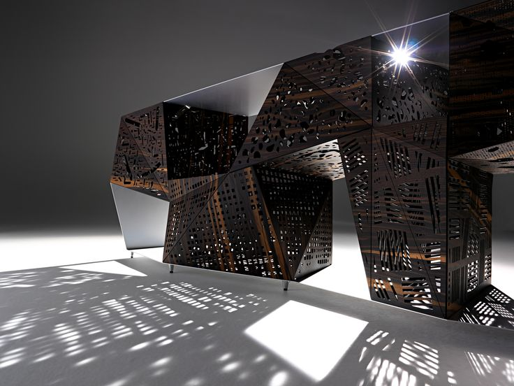 Riddled Buffet #HORM.IT #StevenHoll #domestic #sculpture #product #design #light #shadow #art #design #wanteddesign #nycxdesign #nycxd