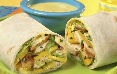 Tast of the Tropics Mango Kid's Wrap -Get the recipe at http://mango.org/recipe/taste-tropics-mango-kid%E2%80%99s-wrap