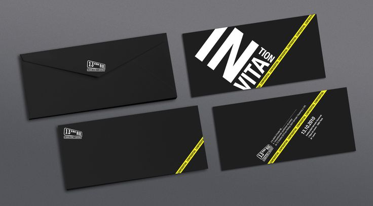 13th street Universal Invitation card on Behance – Cool Invitation Cards