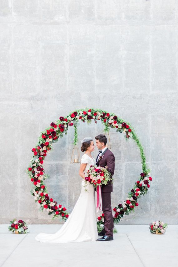 Large floral ceremony wreath