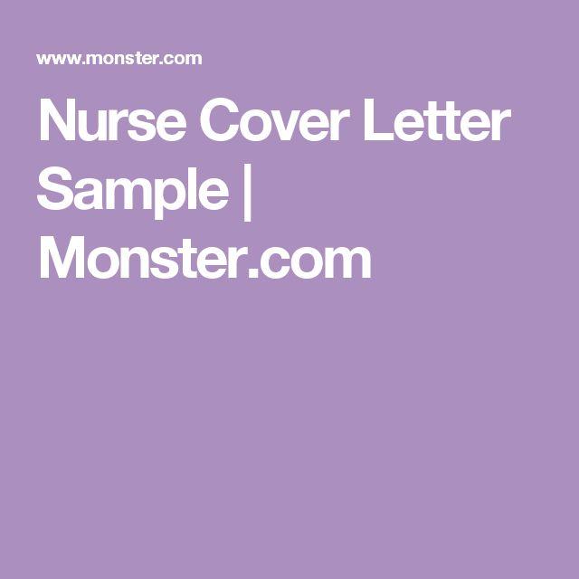 The 25+ best Nursing cover letter ideas on Pinterest Employment - nursing cover letter format