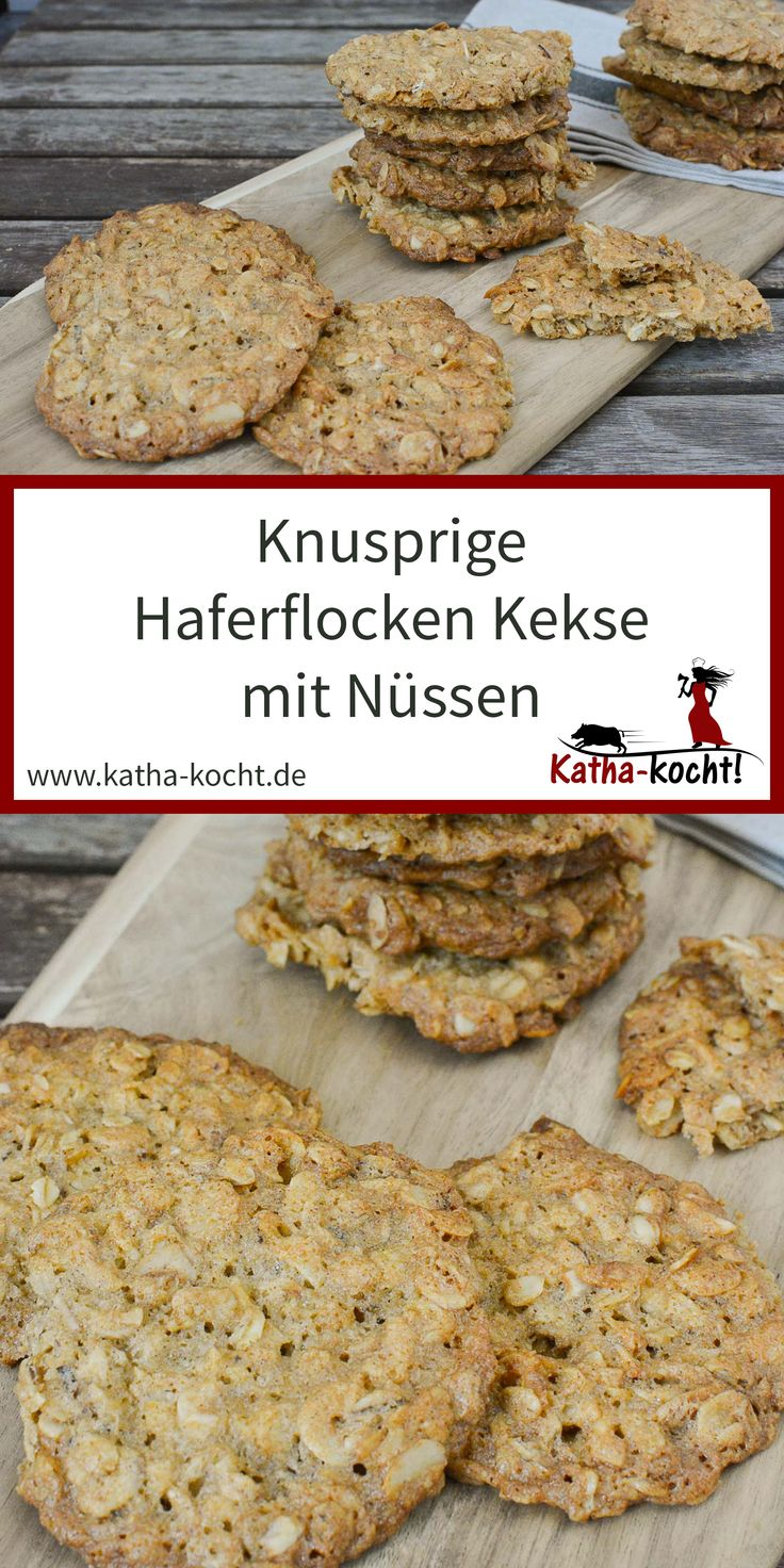 Haferflocken Kekse – knuspriger Haferflocken-Haselnuss Taler