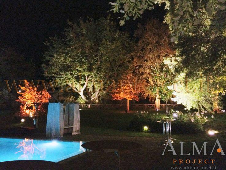ALMA PROJECT @ Borro - Swimming pool area  trees lighting 431 - logo