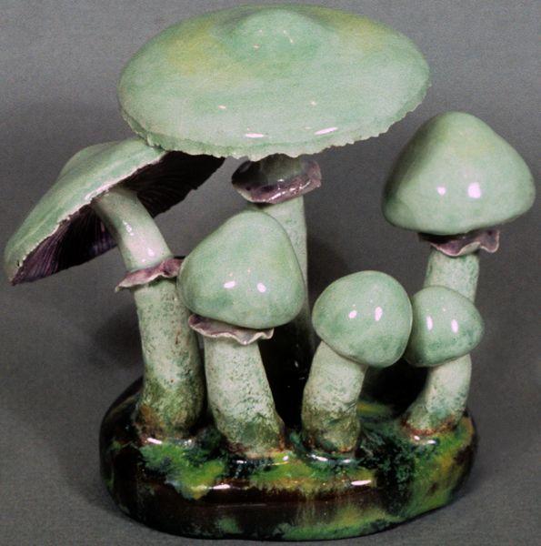 STROPHARIA AERUGINOSA ceramic mushrooms by Alma & Ernst Lorenzen