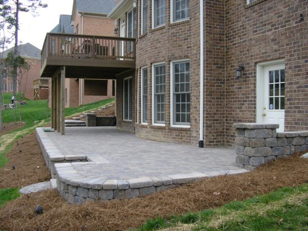 Stone Patio Under The Deck.