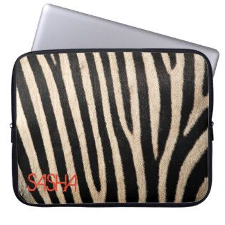 Zebra Skin Collection Laptop Sleeve - Personalised
