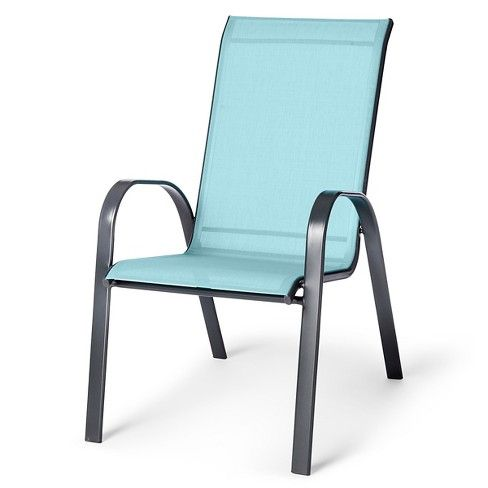 Stacking Sling Patio Chair Dusty Blue Threshold Stacking Patio Chairs Patio Chairs Backyard Chairs