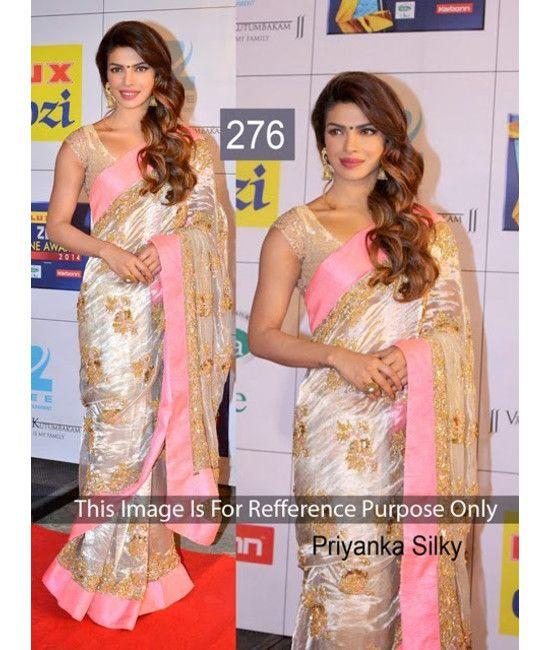 Bollywood Designer Priyanka Silky Party Wear Saree