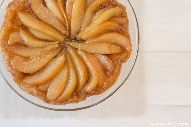 Pear Tarte Tatin ++ via @Sara/Matchbox Kitchen