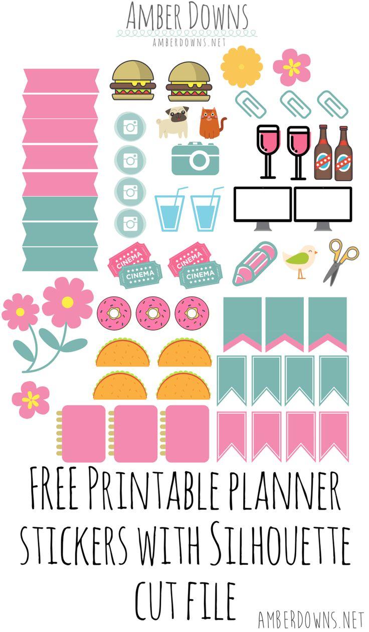 FREE printable planner stickers Más