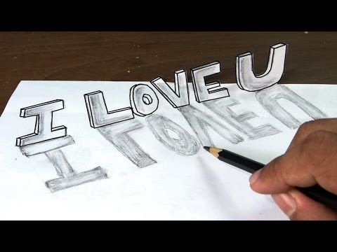Ibrahim 3d Name Wallpaper How To Draw I Love You In 3d Graffiti Letters With