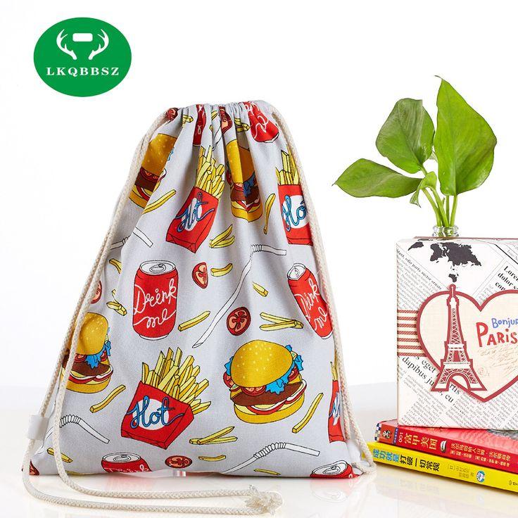 Canvas backpack Lovely Backpacks 3D Printed Animal Cute Girl'S Backpacks Female Travel Shopping Drawstring Bag Mochila de buhos