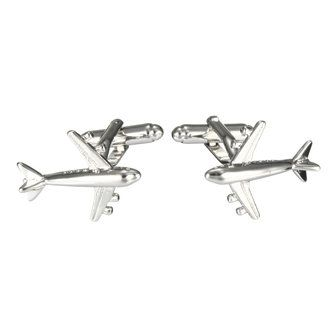 Men Male Silver Airplane Aircraft Pattern Cufflinks Wedding Gift Suit Shirt Accessories at Banggood