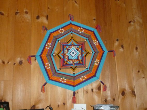 Gods Eye Ojo De Dios Mandala  Art Made to Order by godseyewatching, $125.00