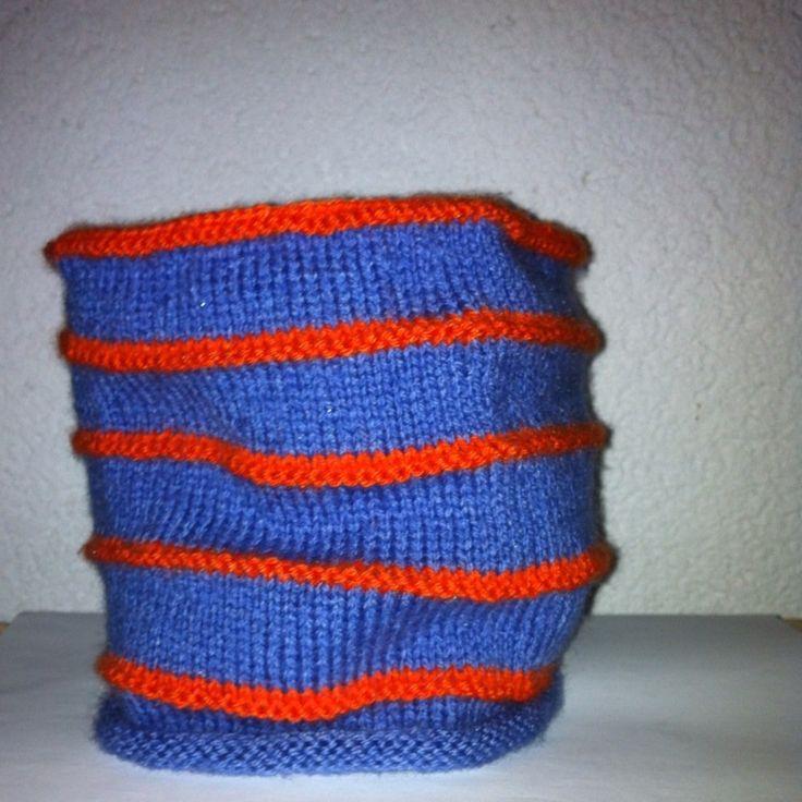 Snood Fille 6 - 10 ans en laine violet et orange : Mode filles par marie-boutdefil