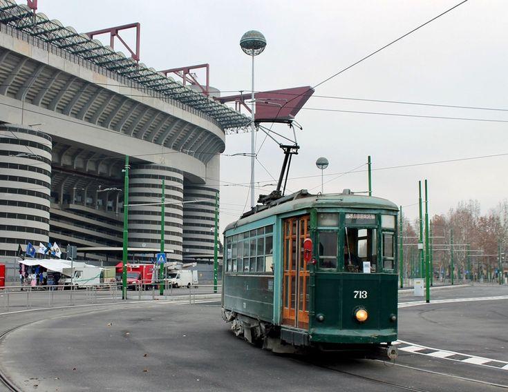 Caproni ATM 700 Tram at San Siro Stadium in Milano
