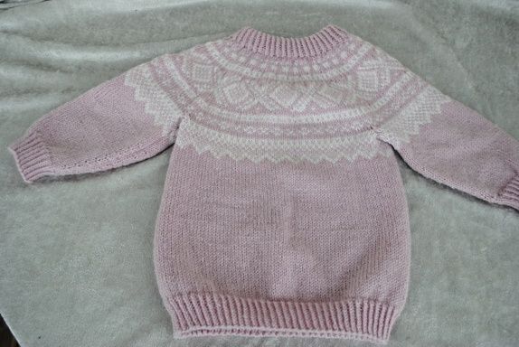 Mariusmønstret genser og lue str 2 år