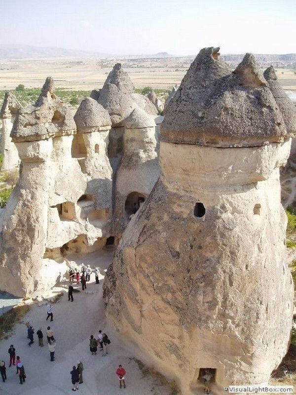 Dwellings in Cappadocia - Turkey.  They look like something out of a fairytale...