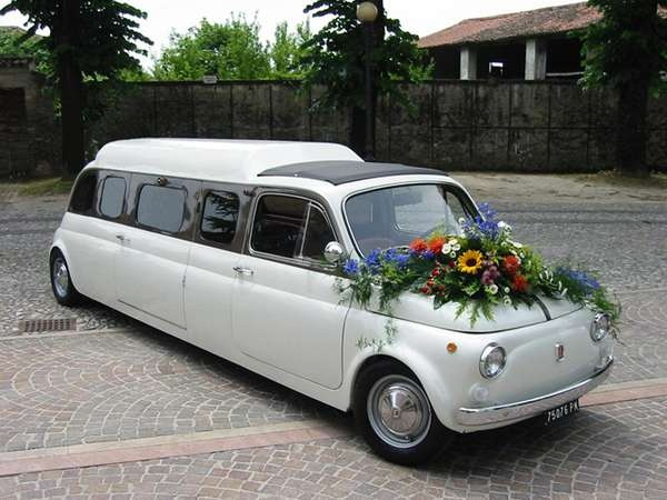 The Fiat 500 Limo -- if only it was also a time machine, I'd rent it for the prom.