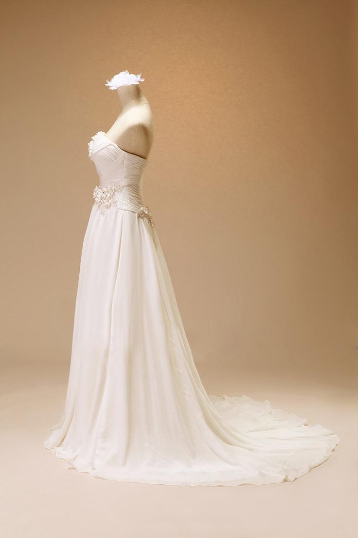 Custom Halter White Lace Tulle Wedding dress S199. $288.00, via Etsy.