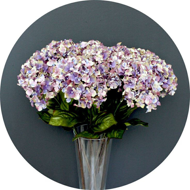 Luxury faux hydrangea from Natural History in dusty lavender  http://natural-history.myshopify.com/collections/flowers