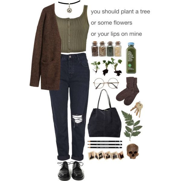 Aesthetic Fashion Grunge Indie Outfit Polyvore Style