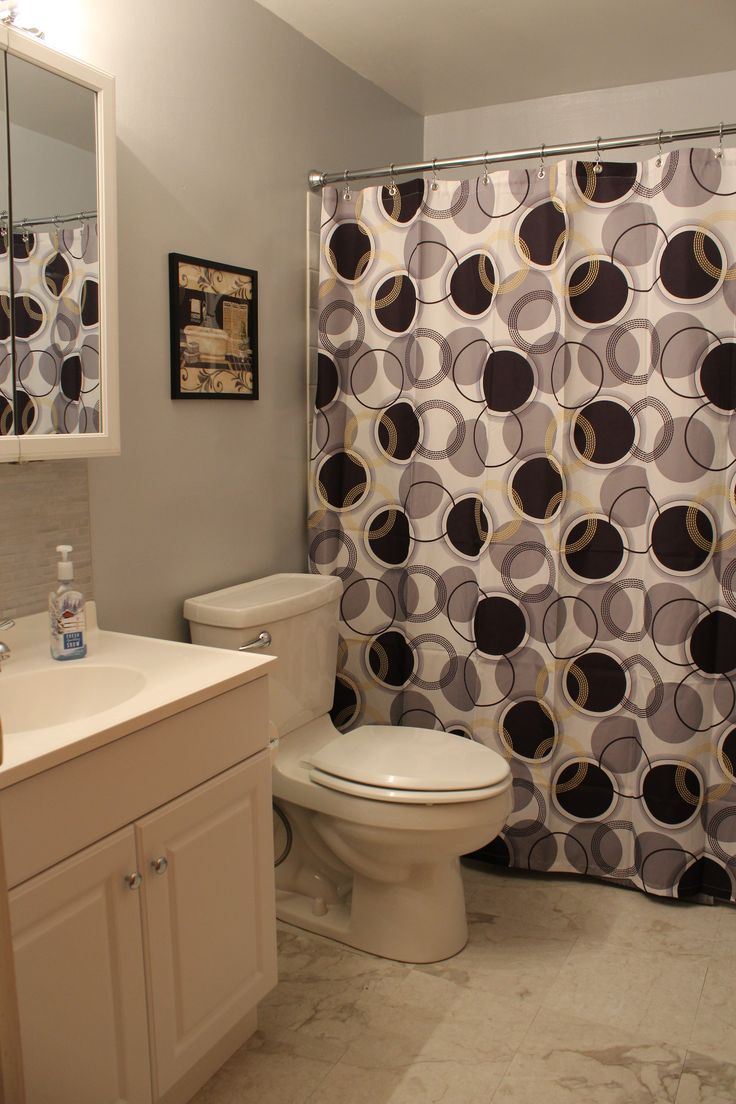 Black Grey and White Bathroom