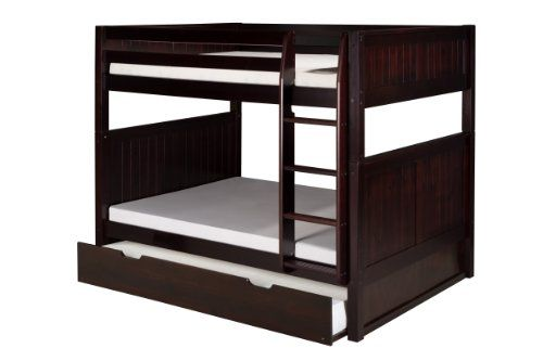 Camaflexi Panel Style Solid Wood Full-Over-Full Bunk Bed ...