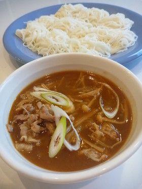 食べ過ぎ注意!ネギ豚カレーつけ汁素麺