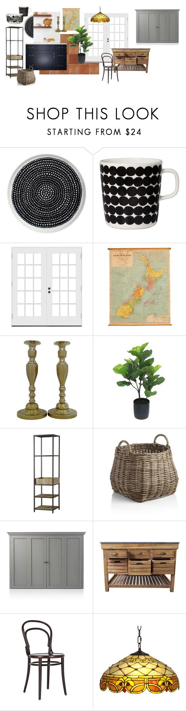 """Kitchen moodboard"" by missmelaniejane on Polyvore featuring interior, interiors, interior design, home, home decor, interior decorating, Marimekko, Threshold, Tribecca Home and Crate and Barrel"