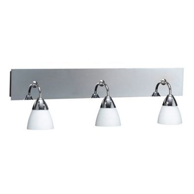 1000+ images about over mirror bathroom vanity wall lights on  : Litecraft Polished Chrome Aqua 3 Light Bathroom Wall Light