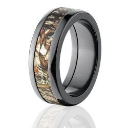 duck band rings | Mossy Oak Rings, Camouflage Wedding Bands, Black Zirconium Ring, Duck ...