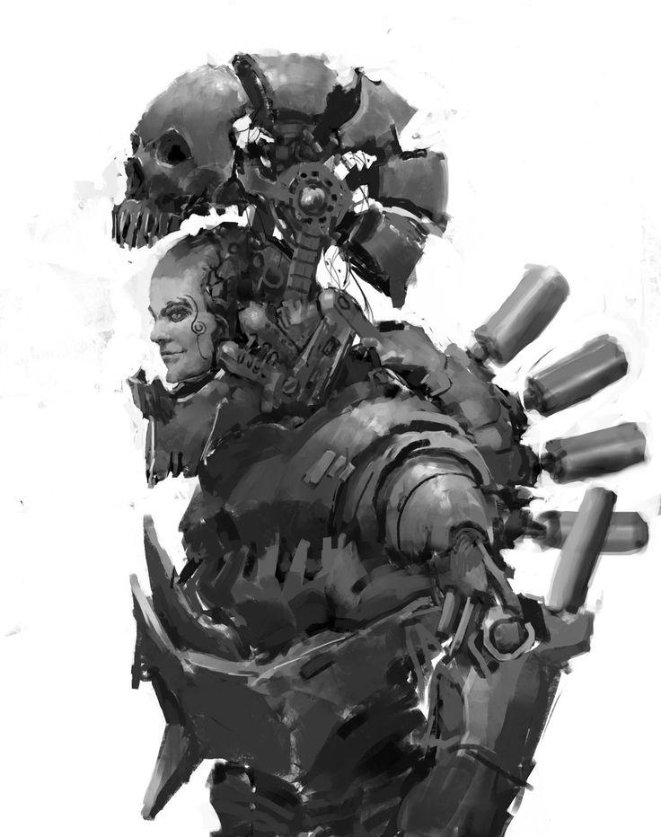 "Concept of exosuit ""Skull-09"", Николай quiklo on ArtStation at…"