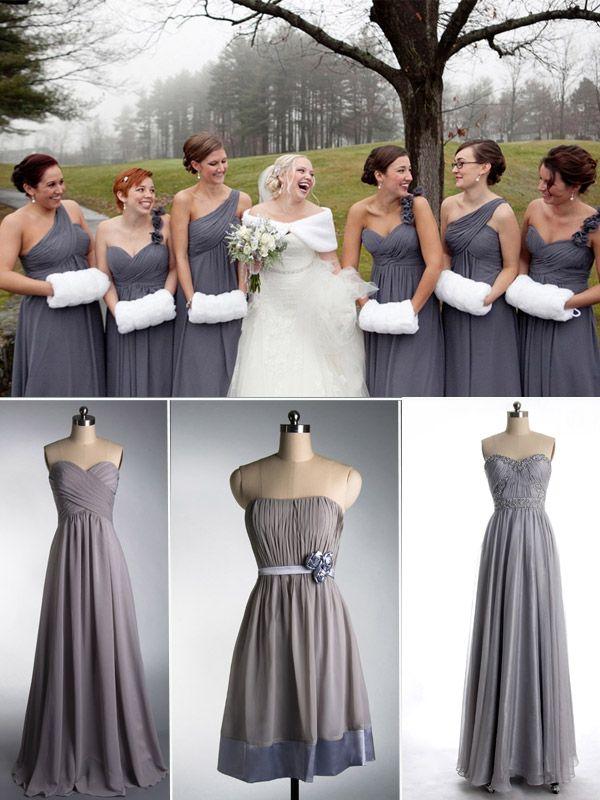 Trendy Bridesmaid Dresses for Christmas/Holiday Winter Wedding 2013